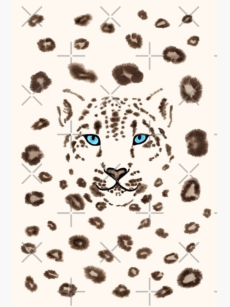 Watercolor Snow Leopard 2  by nadyanadya