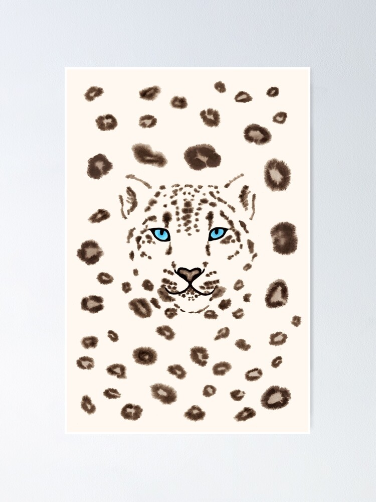 Alternate view of Watercolor Snow Leopard 2  Poster