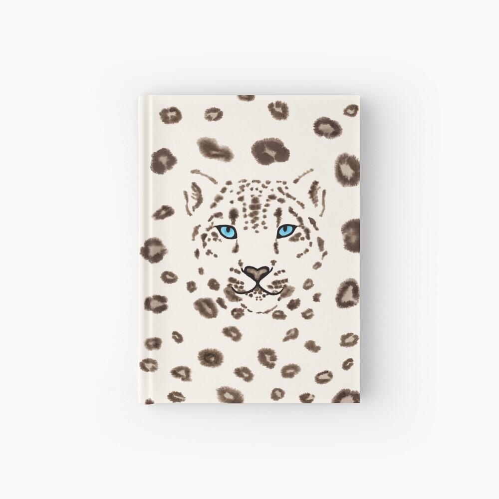 Watercolor Snow Leopard 2  Hardcover Journal