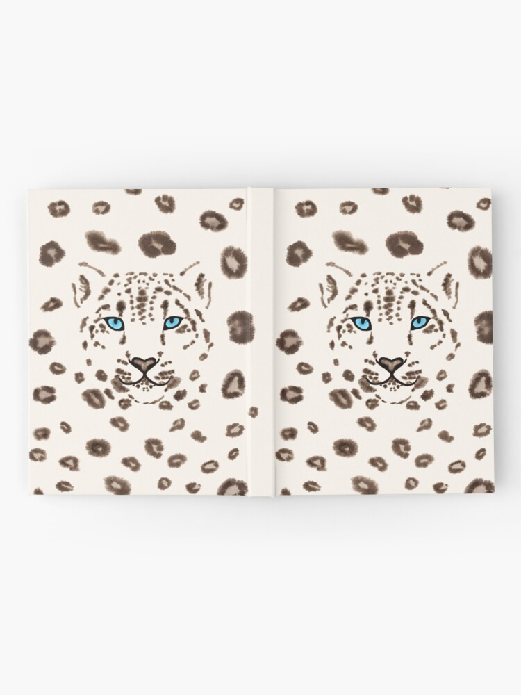 Alternate view of Watercolor Snow Leopard 2  Hardcover Journal
