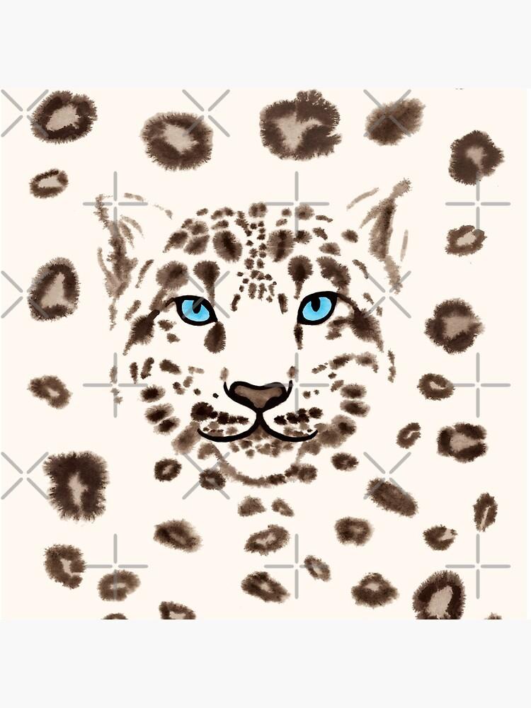 Watercolor Snow Leopard by nadyanadya