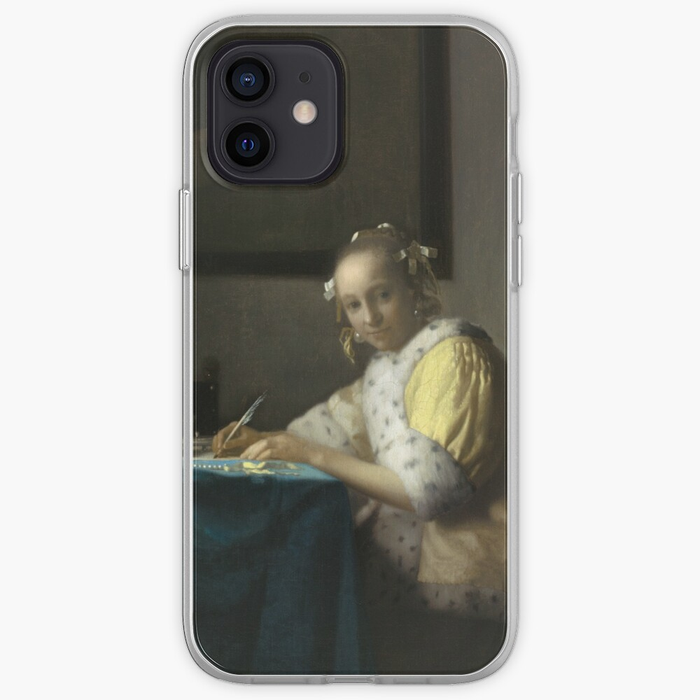 A Lady Writing Oil Painting by Johannes Vermeer iPhone Case & Cover
