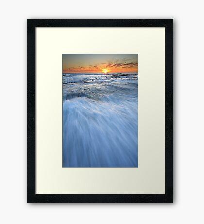 Run... Into the Sun... Framed Print