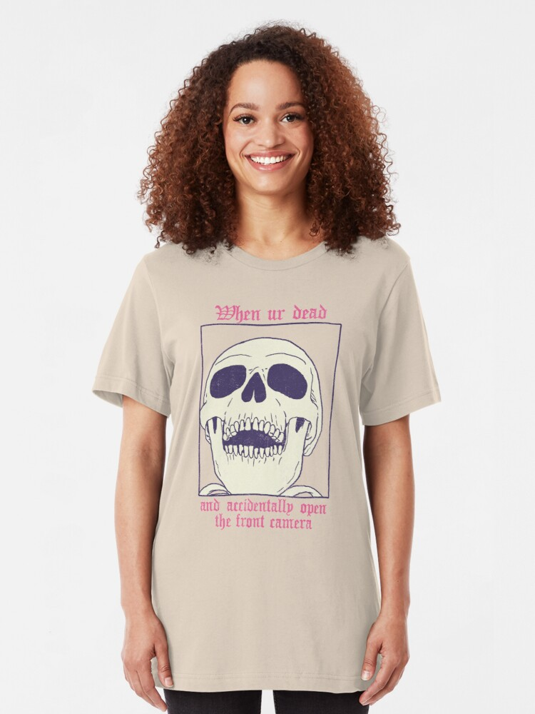 Alternate view of AcciDEADtal Selfie Slim Fit T-Shirt