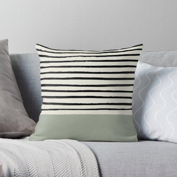 Sage x Stripes Throw Pillow
