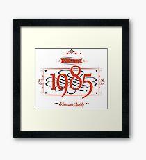 Since 1985 (Red&Black) Framed Print