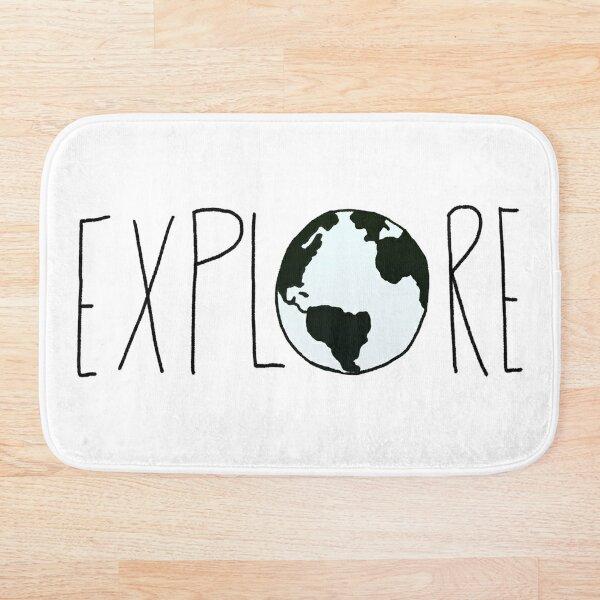 Explora el globo Alfombra de baño