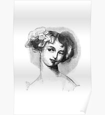 """Laura"" engraving after Gigoux for Gil Blas 1835 Poster"