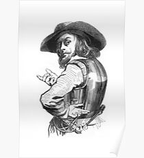"""Captain Rolando"" engraving after Gigoux, Gil Blas 1835 Poster"