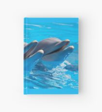 """Dolphin Shirt, """"Come on in the water's fine!"""" Hardcover Journal"""