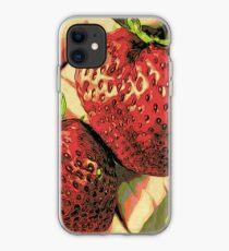 Strawberry Season - Fruit Lover Gift - Art Photography iPhone Case