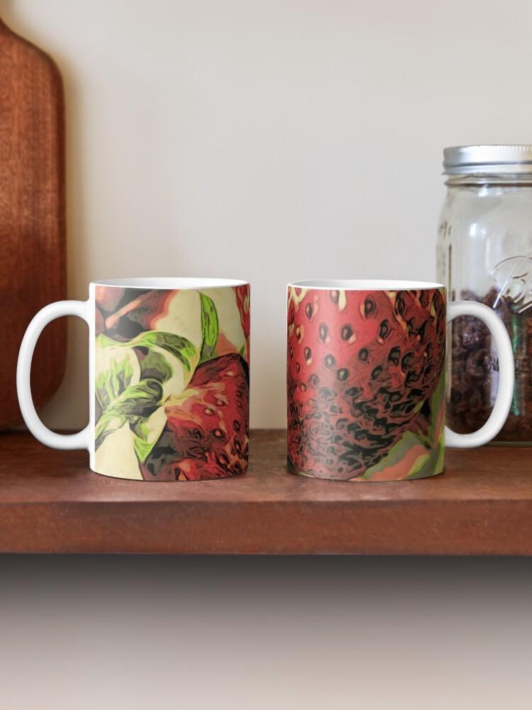 Alternate view of Strawberry Season - Fruit Lover Gift - Art Photography Mug