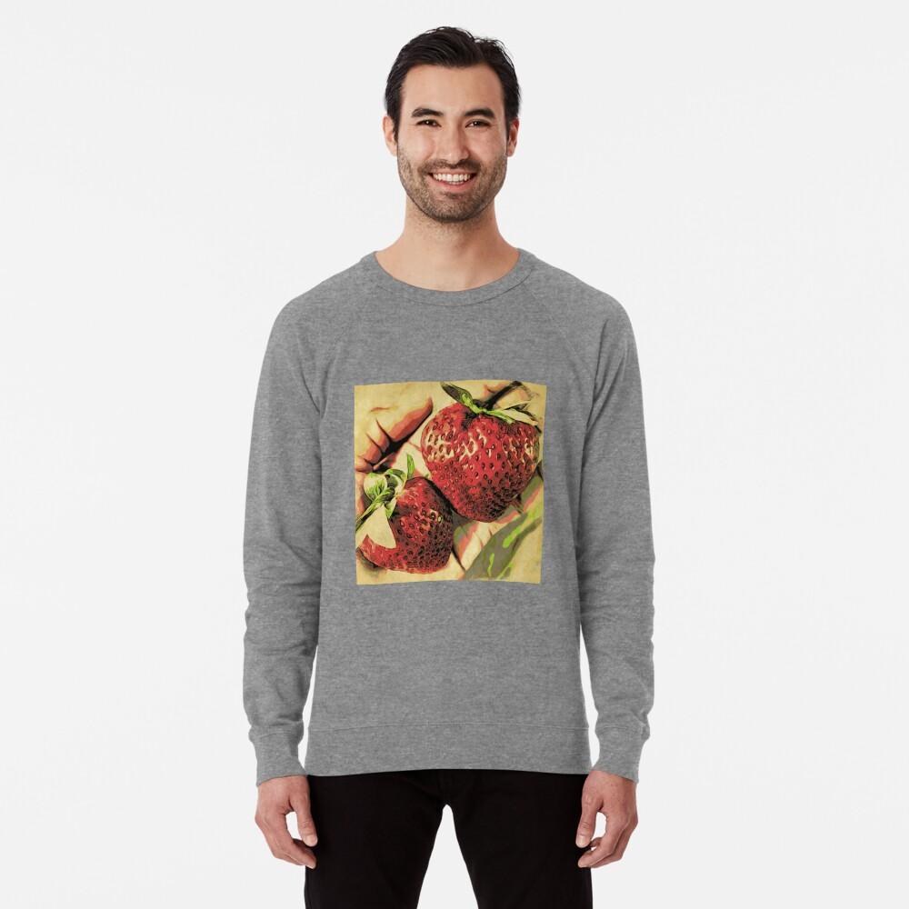 Strawberry Season - Fruit Lover Gift - Art Photography Lightweight Sweatshirt