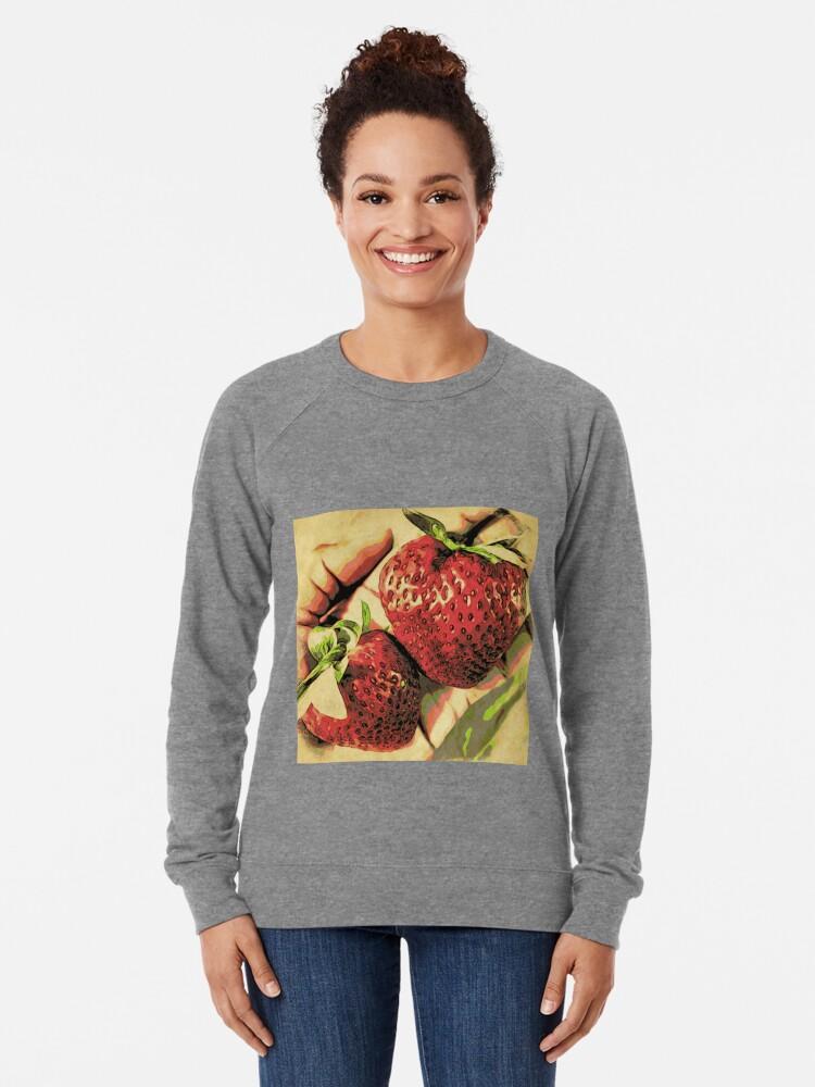 Alternate view of Strawberry Season - Fruit Lover Gift - Art Photography Lightweight Sweatshirt