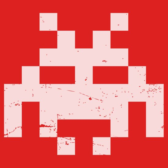 TShirtGifter presents: Space invader - white