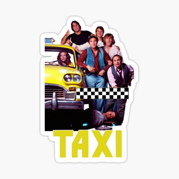 Original Taxi Retro 70s 80's Cast  Sticker