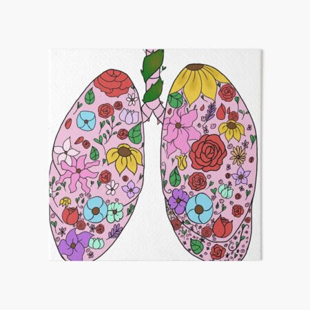 Hanahaki Lungs Enamel Pin