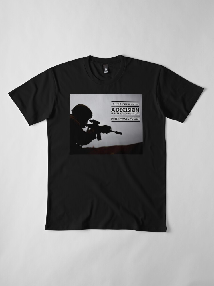 Alternate view of Warrior Shirt, A Warrior Decision Premium T-Shirt