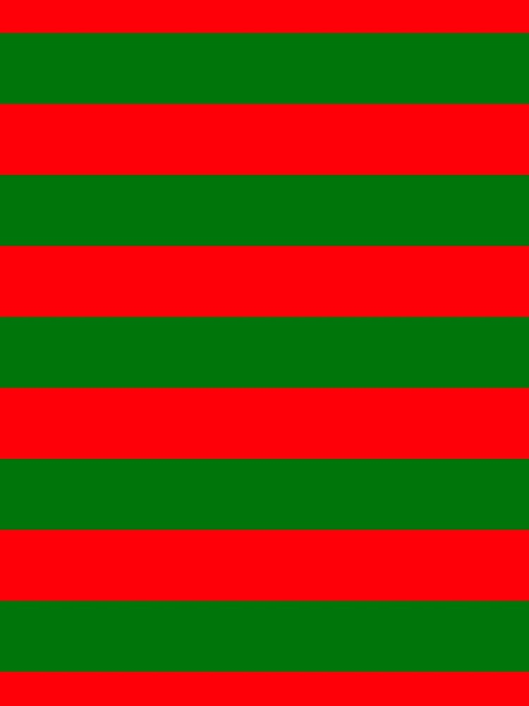 Red and Green Christmas Cabana Stripes by podartist