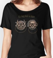 It's Very Rude to Stare Labyrinth Knockers Women's Relaxed Fit T-Shirt