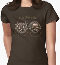 It's Very Rude to Stare Labyrinth Knockers Women's Fitted T-Shirt