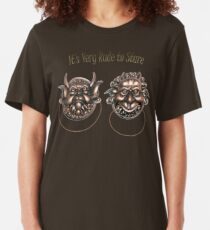 It's Very Rude to Stare Labyrinth Knockers Slim Fit T-Shirt