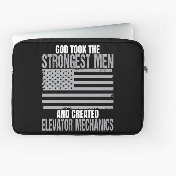 Strongest Men Are Elevator Mechanics Laptop Sleeve