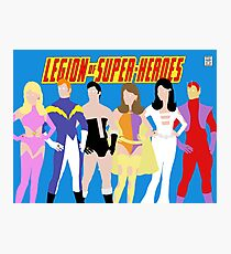 Legion of Super-Heroes Minimal 1 Photographic Print