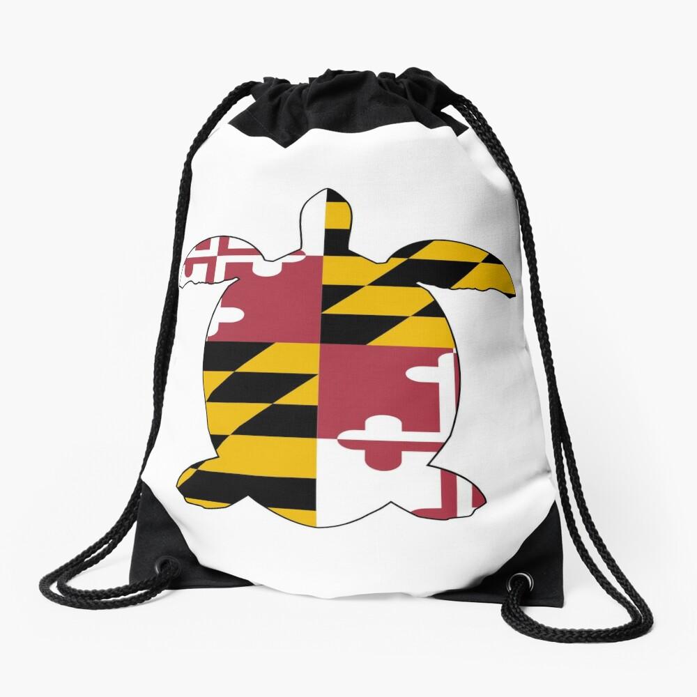 Maryland Turtle Drawstring Bag