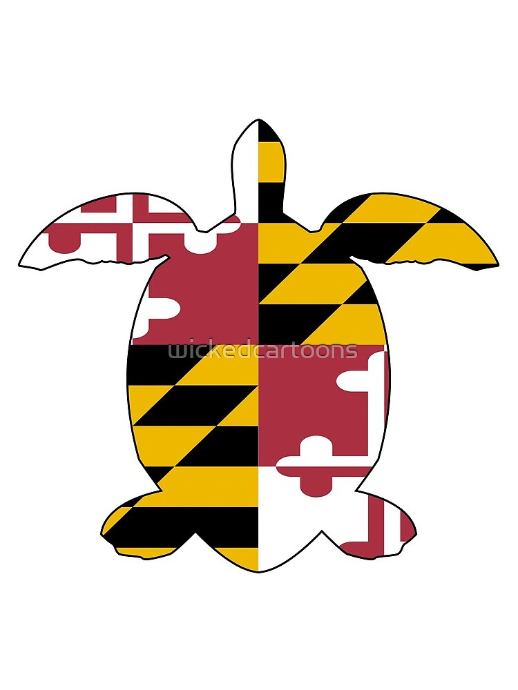 Maryland Turtle by wickedcartoons