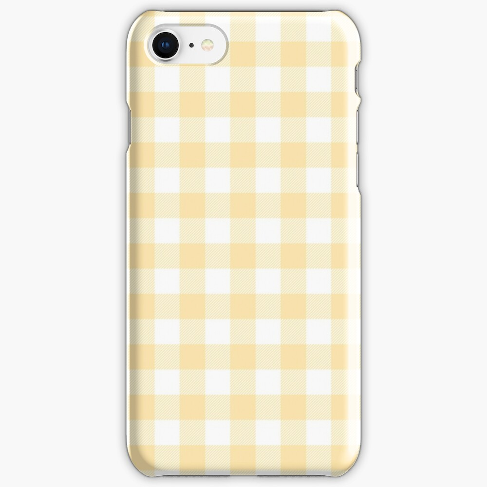 Yellow Gingham iPhone Case & Cover