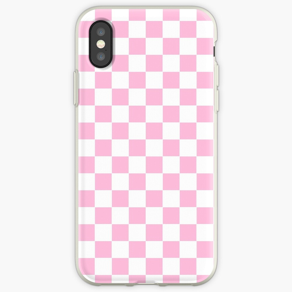 Rosa Check iPhone-Hülle & Cover