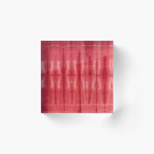 SKU607 Shibori Style - Red 16 Acrylic Block