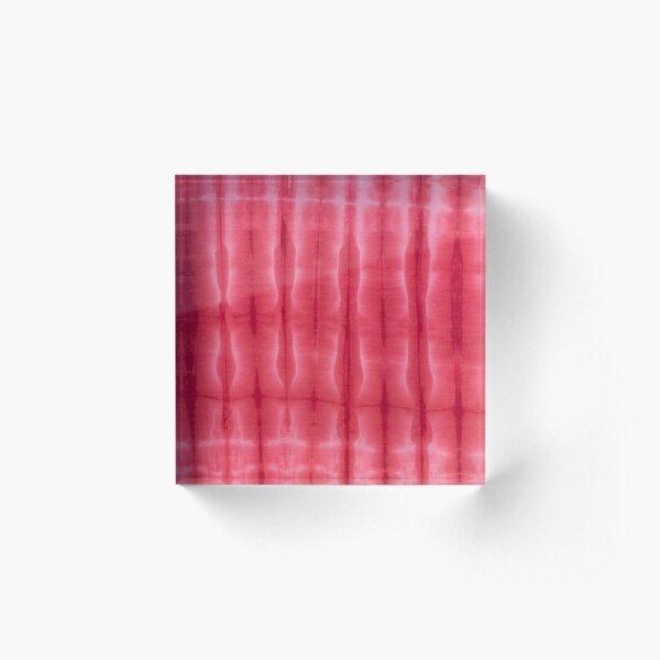 SKU608 Shibori Style - Red 17 Acrylic Block