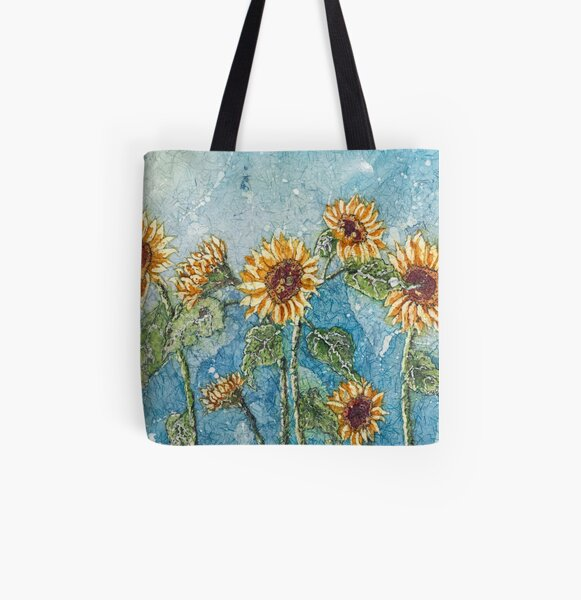 A Summer of Sunflowers  All Over Print Tote Bag