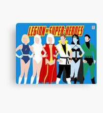 Legion of Super-Heroes Minimal 4 Canvas Print