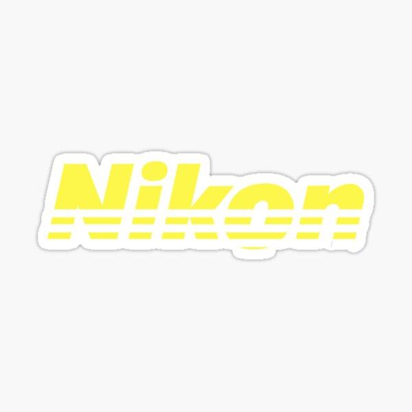 Nikon Yellow Logo Sticker