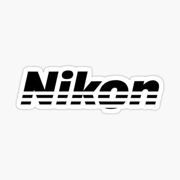 Nikon Black Logo Sticker