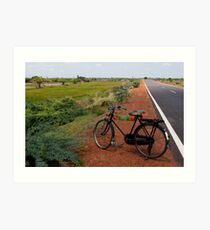 Bicycle, Tamil Nadu Art Print