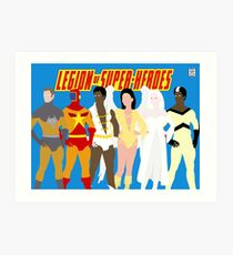 Legion of Super-Heroes Minimal 5 Art Print