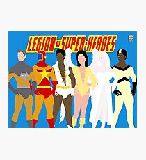 Legion of Super-Heroes Minimal 5 Photographic Print