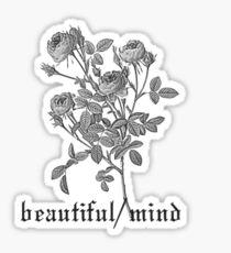Beautiful Mind Roses Design Sticker