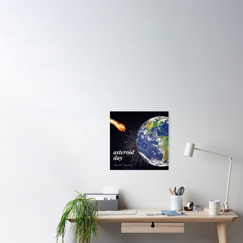 Asteroid Approaching Poster