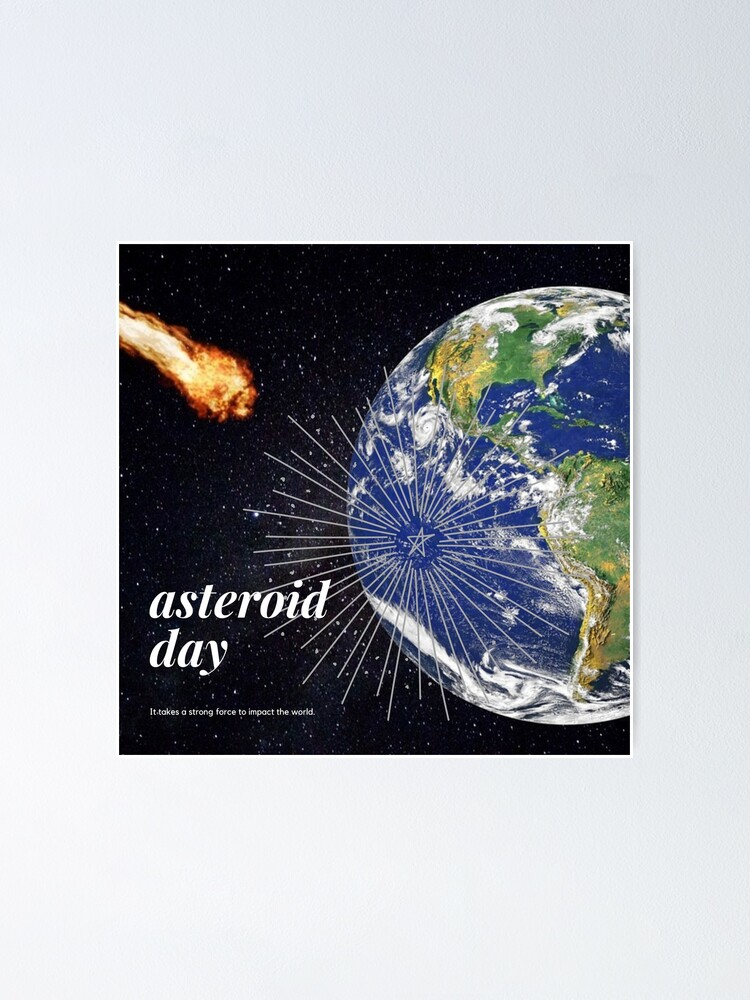 Alternate view of Asteroid Approaching Poster