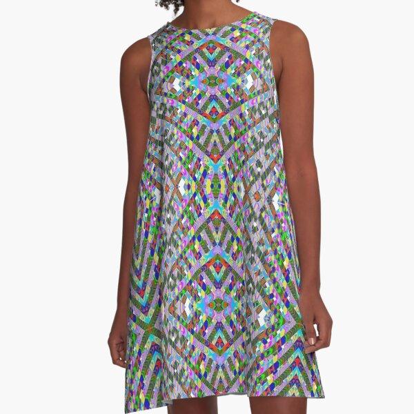 #Motif, #Visual #arts, #Pattern, abstract, decoration, art, design, textile, shape, fashion, element, ornate A-Line Dress