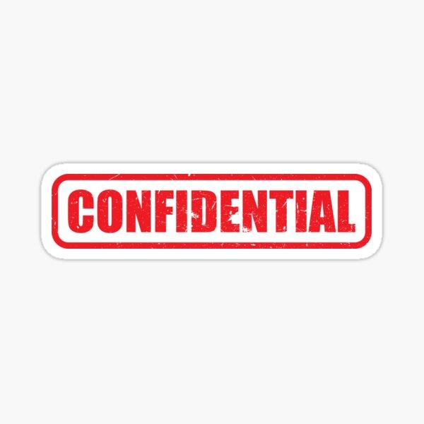 Confidential Sticker