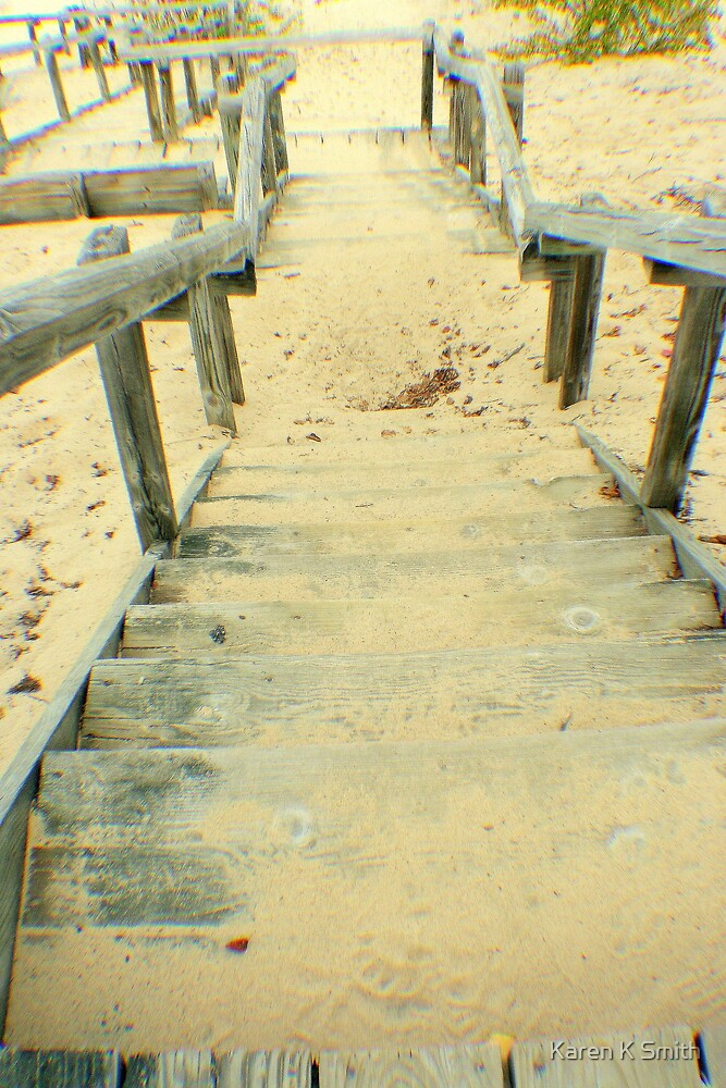 Stairs from the Beach by Karen K Smith