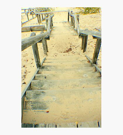 Stairs from the Beach Photographic Print