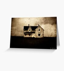 SINISTER . HOUSE Greeting Card