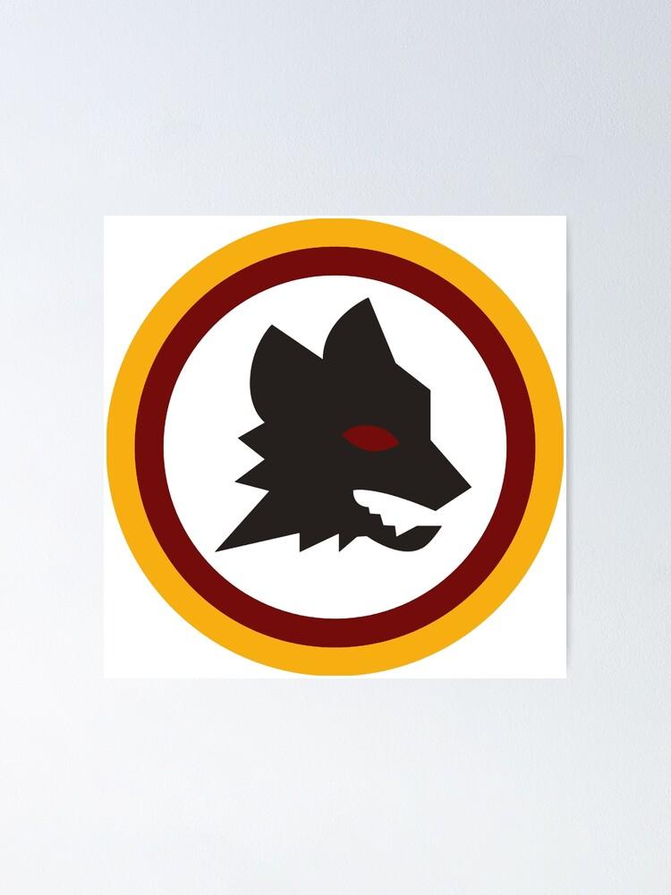 Alternative Ansicht von AS Roma Serie A Italien Team Altes Logo Poster